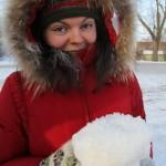 Зернистый снег (-30)